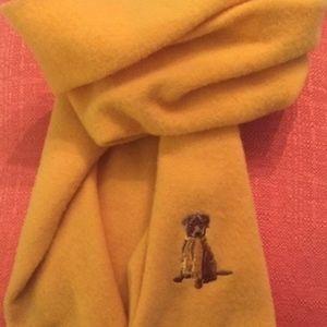 DOG LOVE! Rare Daniel Cremieux Wool Scarf